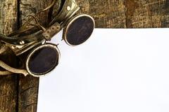 Vidrios de soldadura viejos Fotos de archivo libres de regalías