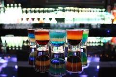 Vidrios de tiro multicolores foto de archivo libre de regalías