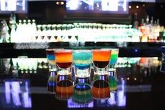 Vidrios de tiro multicolores fotografía de archivo