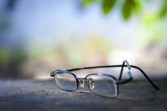 Vidrios de un viejo hombre Fotos de archivo libres de regalías
