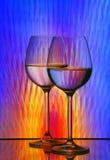 Vidrios de vino foto de archivo libre de regalías