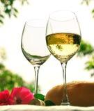 Vidrios de vino Imagen de archivo libre de regalías