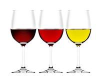 Vidrios de vino Imágenes de archivo libres de regalías