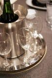 Vidrios de vino Fotografía de archivo
