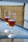 Vidrios de vino Fotos de archivo libres de regalías