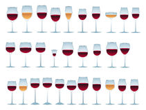 Vidrios de vino Fotografía de archivo libre de regalías