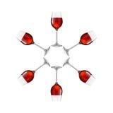 Vidrios de vino aislados en el fondo blanco Fotos de archivo libres de regalías