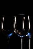 Vidrios de vino blanco Foto de archivo libre de regalías