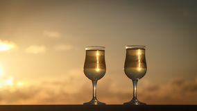 Vidrios de vino blanco Foto de archivo