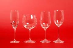 Vidrios de vino cristalinos Fotos de archivo libres de regalías