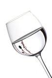 Vidrios de vino de la Navidad fotos de archivo