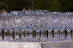 Vidrios de vino de la pila Foto de archivo