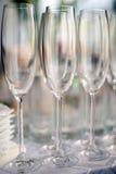 Vidrios de vino espumoso Fotos de archivo libres de regalías