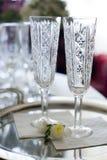 Vidrios de vino espumoso Imagen de archivo