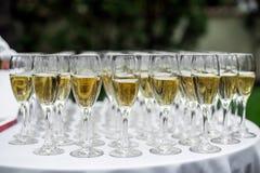 Vidrios de vino espumoso Fotografía de archivo
