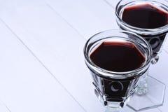 Vidrios de vino rojo Fotografía de archivo