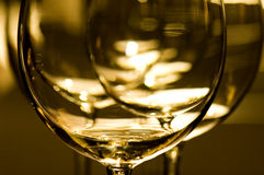 Vidrios de vino rojo Foto de archivo