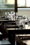 Vidrios de vino sin pie imagen de archivo libre de regalías