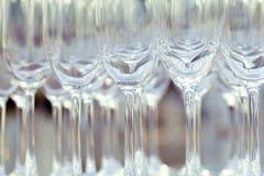 Vidrios de vino vacíos Imagen de archivo libre de regalías