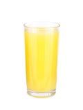 Vidrios de zumo de fruta anaranjado Imagenes de archivo