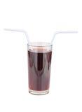 Vidrios de zumo de fruta rojo en blanco Fotos de archivo libres de regalías