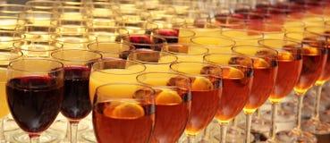 Vidrios del alcohol Imágenes de archivo libres de regalías