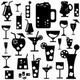 Vidrios del alcohol Fotografía de archivo libre de regalías