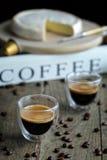Vidrios del café Imagen de archivo libre de regalías