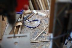 Vidrios del carpintero Imagen de archivo