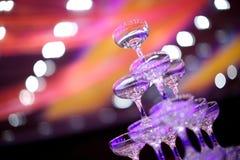 Vidrios del champán de la boda Imagenes de archivo