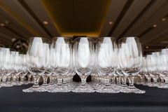 Vidrios del champán de la boda Imágenes de archivo libres de regalías