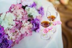 Vidrios del champán de la boda Foto de archivo