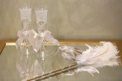 Vidrios del champán de la boda Imagen de archivo