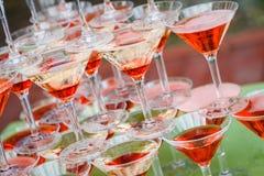 Vidrios del champán de la boda Fotografía de archivo