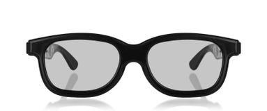 vidrios del cine 3D aislados en un blanco Fotos de archivo libres de regalías