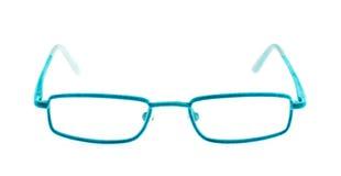 Vidrios del ojo azul foto de archivo