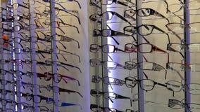 Vidrios del ojo de la exhibición