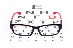 Vidrios del ojo para una mejor visión Foto de archivo libre de regalías