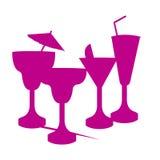 Vidrios del partido de la bebida stock de ilustración