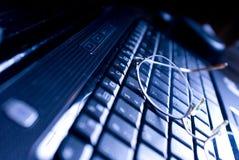 Vidrios del teclado Fotografía de archivo libre de regalías