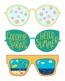 Vidrios del verano de la primavera ilustración del vector