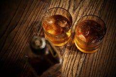 Vidrios del whisky Fotografía de archivo libre de regalías