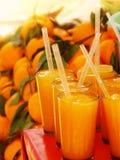 Vidrios del zumo de naranja Fotos de archivo libres de regalías