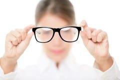 Vidrios - el mostrar del óptico eyewear Foto de archivo libre de regalías