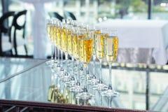 Vidrios elegantes con champán foto de archivo libre de regalías