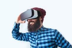 Vidrios elegantes del hombre n VR Fotos de archivo libres de regalías