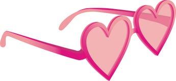 Vidrios en forma de corazón Foto de archivo libre de regalías