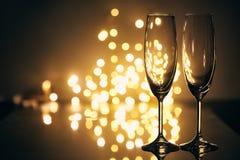 Vidrios para el champán fotografía de archivo