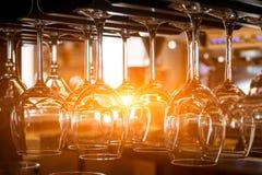Vidrios para el vino Fotografía de archivo