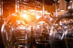 Vidrios para el vino Foto de archivo libre de regalías